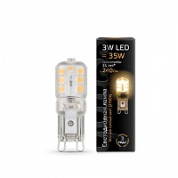 Лампа Gauss LED G9 AC220-240V 3W 2700K пластик 1/20/200