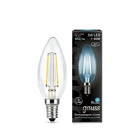 Лампа Gauss LED Filament Candle E14 5W 4100К 1/10/50