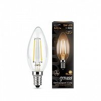 Лампа Gauss LED Filament Candle E14 5W 2700К 1/10/50