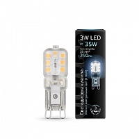 Лампа Gauss LED G9 AC220-240V 3W 4100K пластик 1/20/200